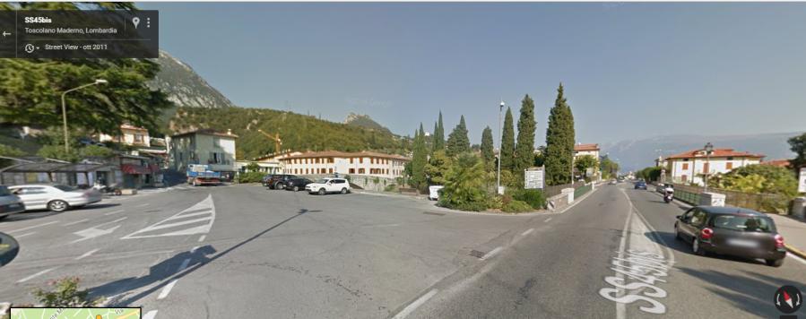 Spiazzo Maderno prima del ponte che collega a Toscolano