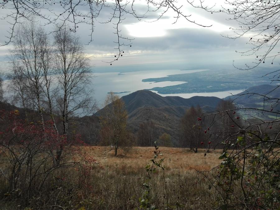 Vista del lago di Garda in prossimità della Cima Pizzocolo
