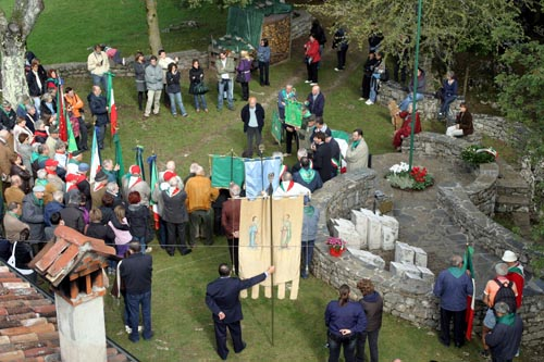 Commemorazione della Brigata Perlasca da parte delle Fiamme Verdi, Barbaine